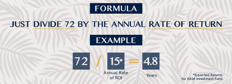 The Rule of 72 and Why You Should Double Down on KASA Investment Fund
