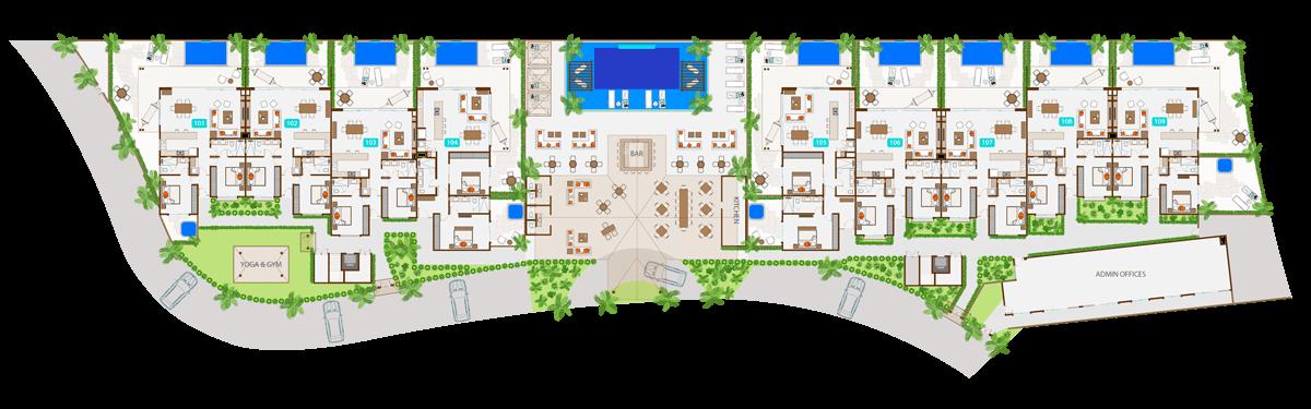KASA Residences Ceiba Tulum - Primer Piso