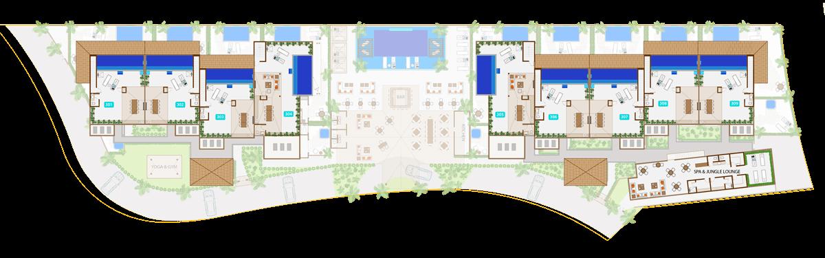 KASA Residences Ceiba Tulum - Terraza