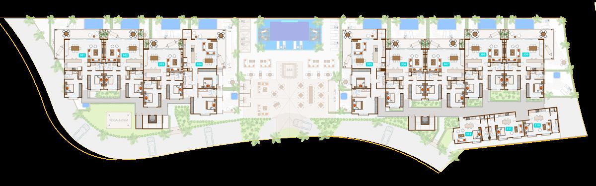 KASA Residences Ceiba Tulum - Tercer Piso