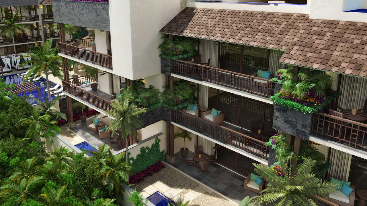 KASA Residences Ceiba Tulum - Beautiful Terraces View