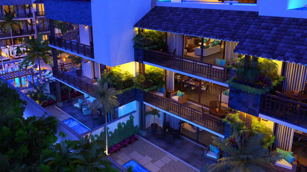 KASA Residences Ceiba Tulum - Beautiful Terraces Night View