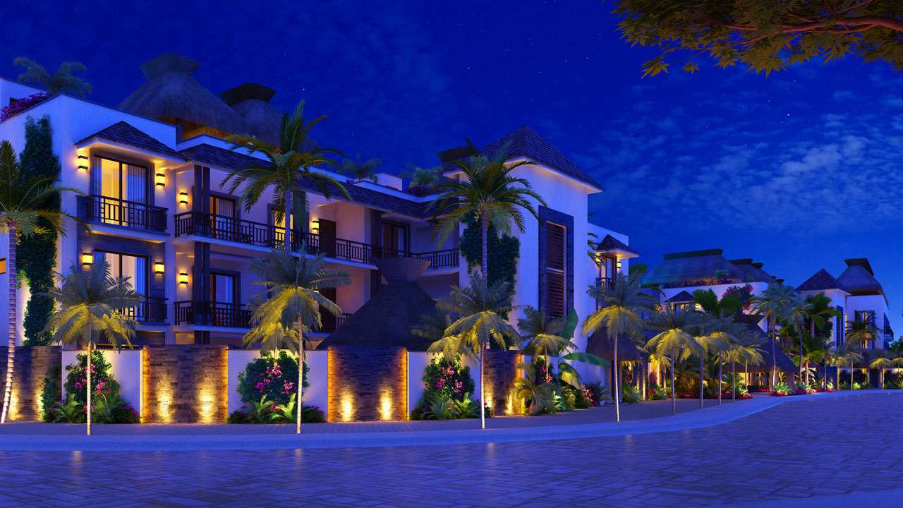 KASA Residences Ceiba Tulum - Hermosa Fachada por la Noche