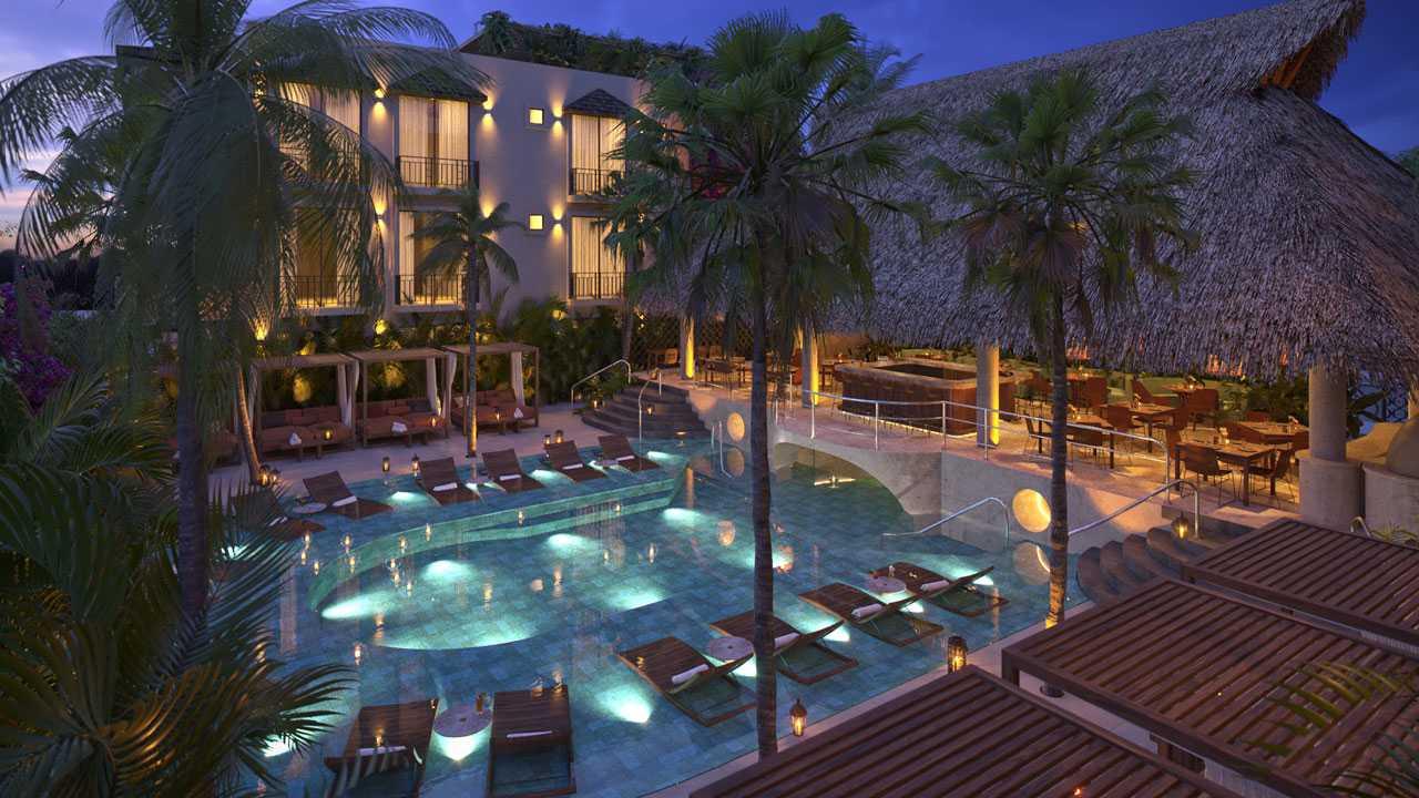 KASA Residences Ceiba Tulum - Hermosa Vista Aérea de la Piscina