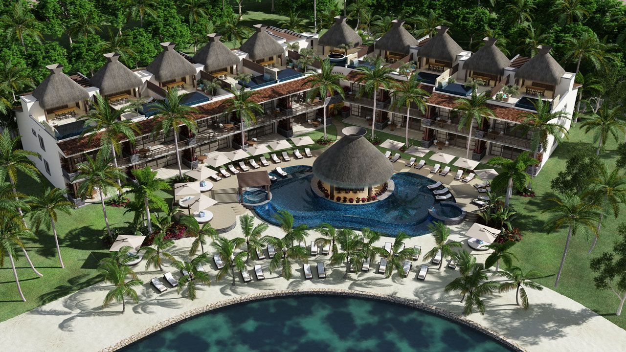 KASA Residences Riviera Maya - Swimming Pool Aerial View