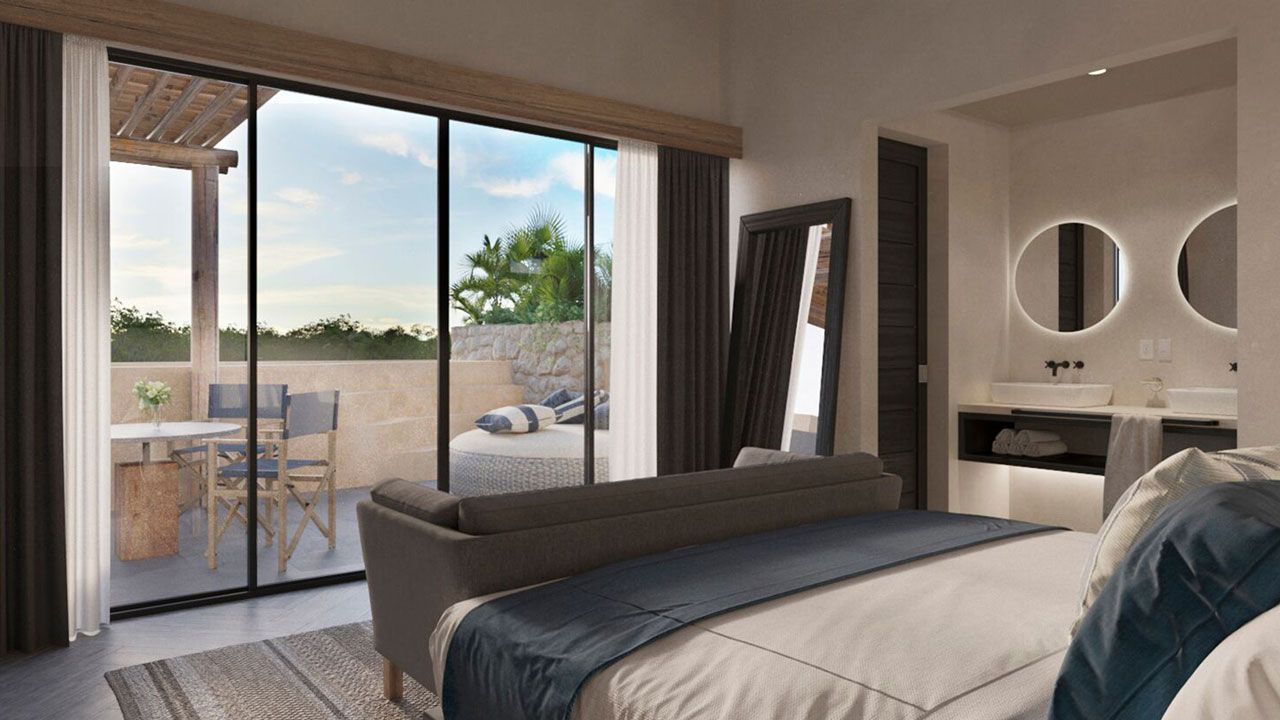 KASA Residences Riviera Maya - Spacious Luxury Bedroom with Terrace