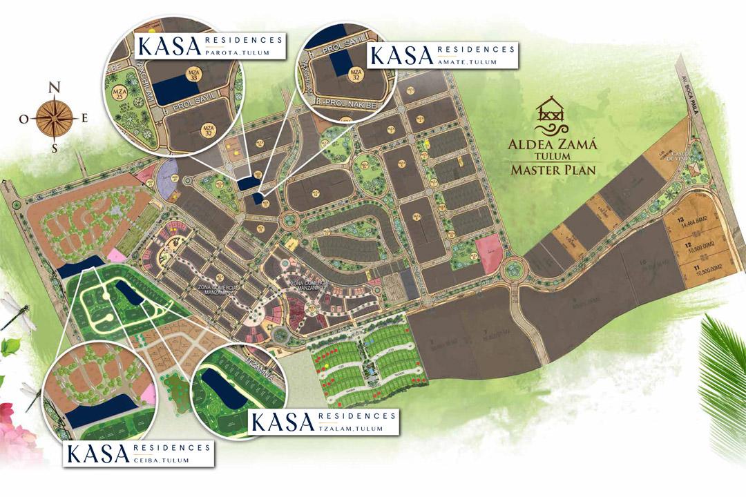 Ubicación de los Proyectos de KASA Hotels