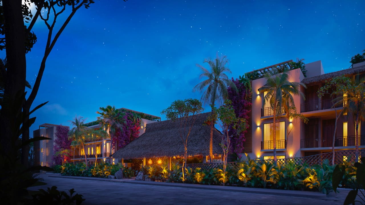 KASA Residences Tzalam Tulum - Beautiful Night Facade