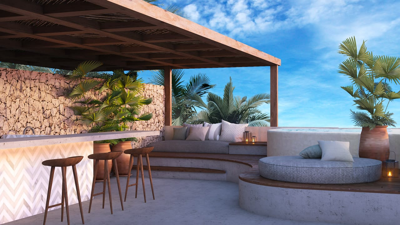 KASA Residences Tzalam Tulum - Great Rooftop Area