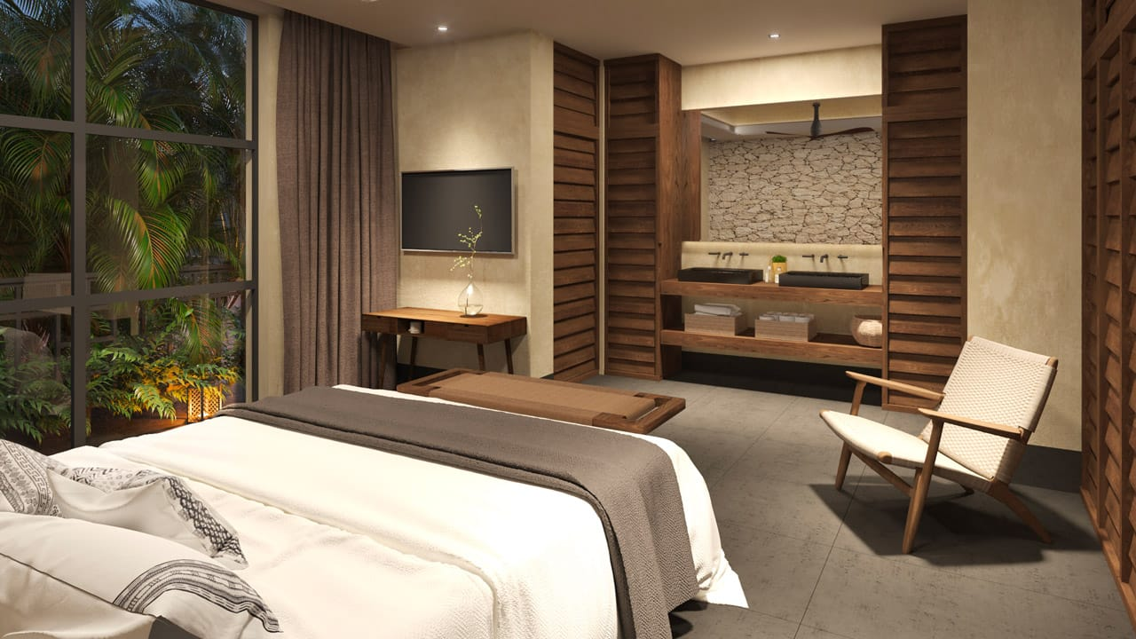 KASA Residences Tzalam Tulum - Spacious Luxury Bedroom