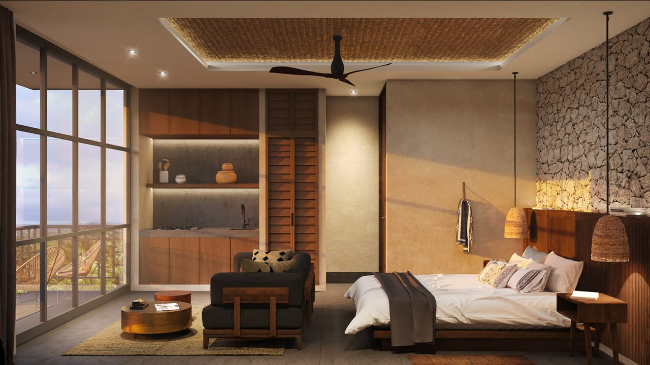 KASA Residences Tzalam Tulum - Luxury Studio Bedroom